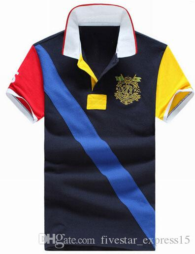 Good Quality American Style Men Casual Polos Short Sleeve Slim Classic Sport Polo Shirt For Boys New Tee T Shirt Blue Red