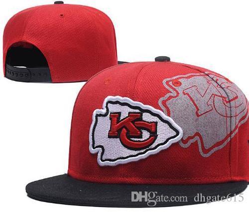 6841c1d07e696 2019 Cheap Kansas City Hat KC HAT Snapback Football Cap Flat Brim Team Size  Ball Baseball Cap Women Men Classic Retro Fashion 02 From Dhgate615