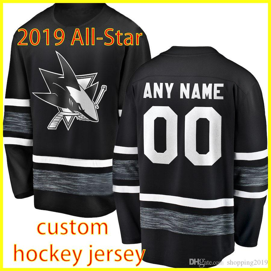 Custom 2019 All Star Game Jersey Men San Jose Sharks 88 Brent Burns 8 Joe  Pavelski 9 Evander Kane Martin Jones Hockey Jerseys Custom Hockey Jerseys  Brent ... ef6e705a8
