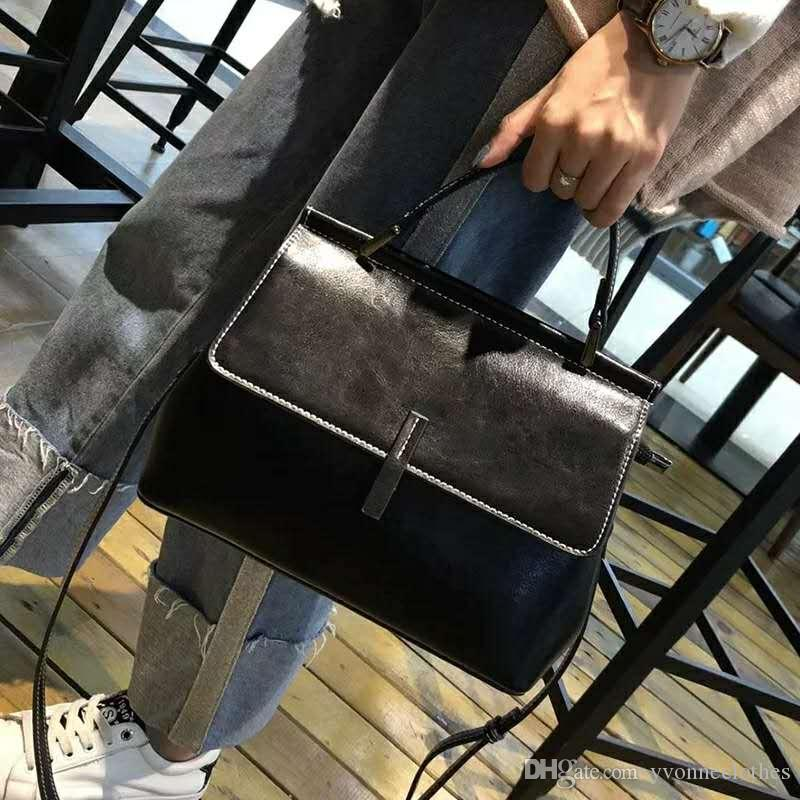 53820b0b7e76 2019 New Single Shoulder Bags All Match Fashion Senior Handbags Square Bag  Convenient European And American Style Simple Colorful To Choose Designer  ...