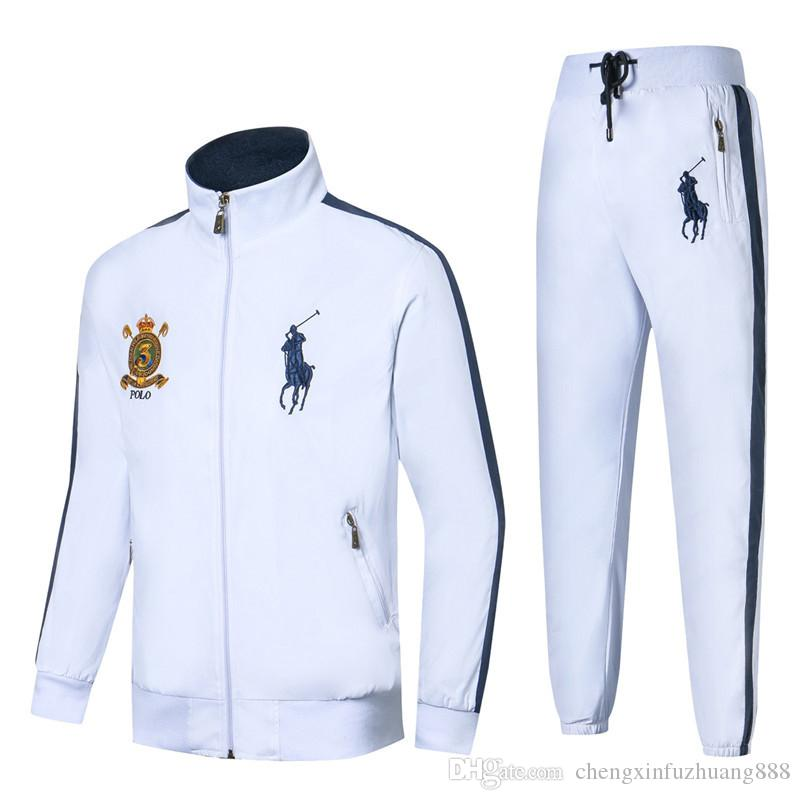 Men's Hoodies and Sweatshirts Sportswear Man Polo Jacket pants Jogging Jogger Sets Turtleneck Sports Tracksuits Sweat Suits