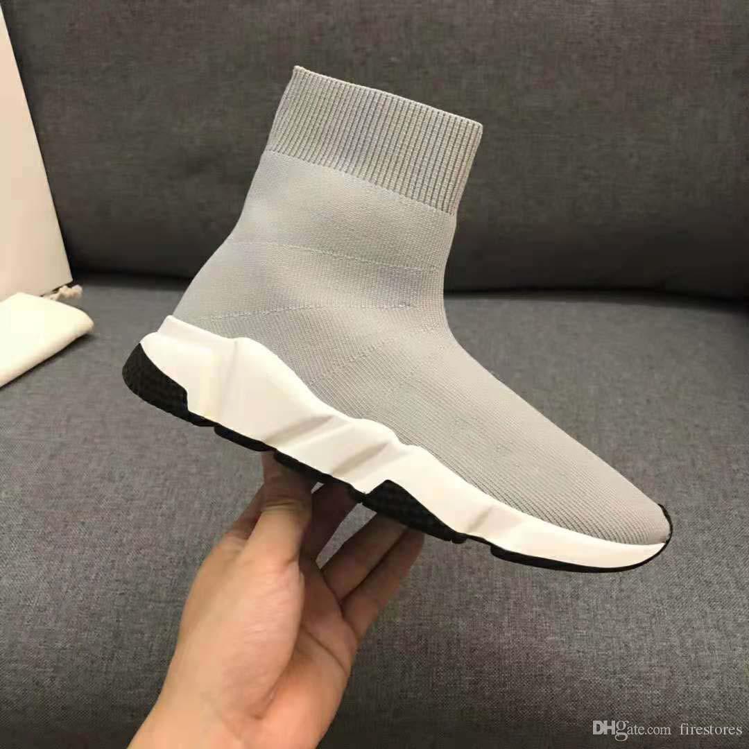 2c6249632 Compre Novo Designer De Moda Meia Sapatos Meias Botas Mulher Bota Homem  Sapatilhas Sapatos Barato Plana Sapato Homem Mulher Sapato Atacado Senhora  Menino ...