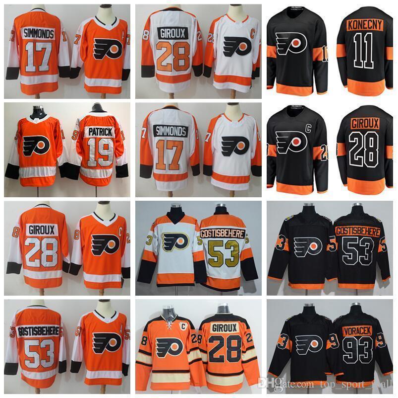 san francisco 331a5 6f04f 2012 Winter Classic Jersey Philadelphia Flyers Stadium Series Hockey 9 Ivan  Provorov 11 Travis Konecny 19 Nolan Patrick Claude Giroux