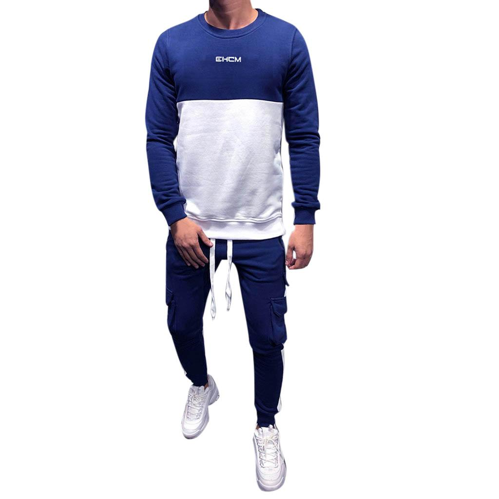 Compre M 2XL Hombres Espesar Sudadera Top Pantalones Conjuntos Traje  Deportivo Azul Negro Rojo Otoño Invierno O Cuello Algodón Falda Larga  Chándal A  39.98 ... 17e48dac16590