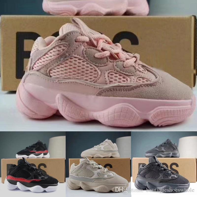 4630f5101 Kids Shoes Kanye West 500 Salt Utility Black Pink Blush Desert Rat Infant  Running Shoes Baby Boys Girl Toddler Youth Children 500 Sneakers Girls  Tennis ...