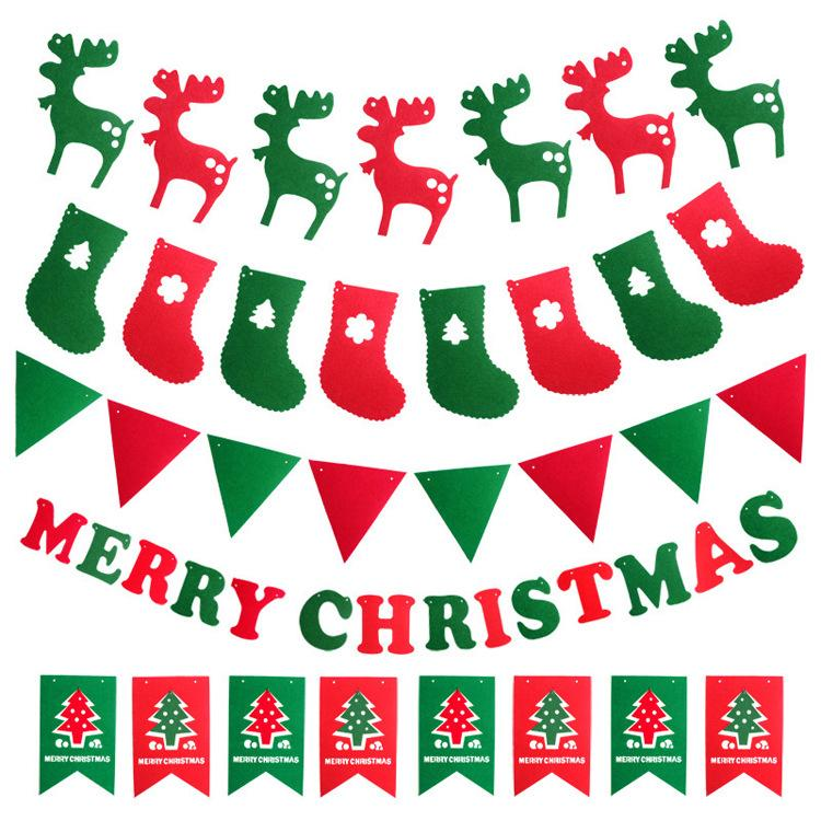 Christmas Flags Party Supplies colorful Banner Christmas Decorations Home Decor flags Santa Claus Snow man Xmas flag