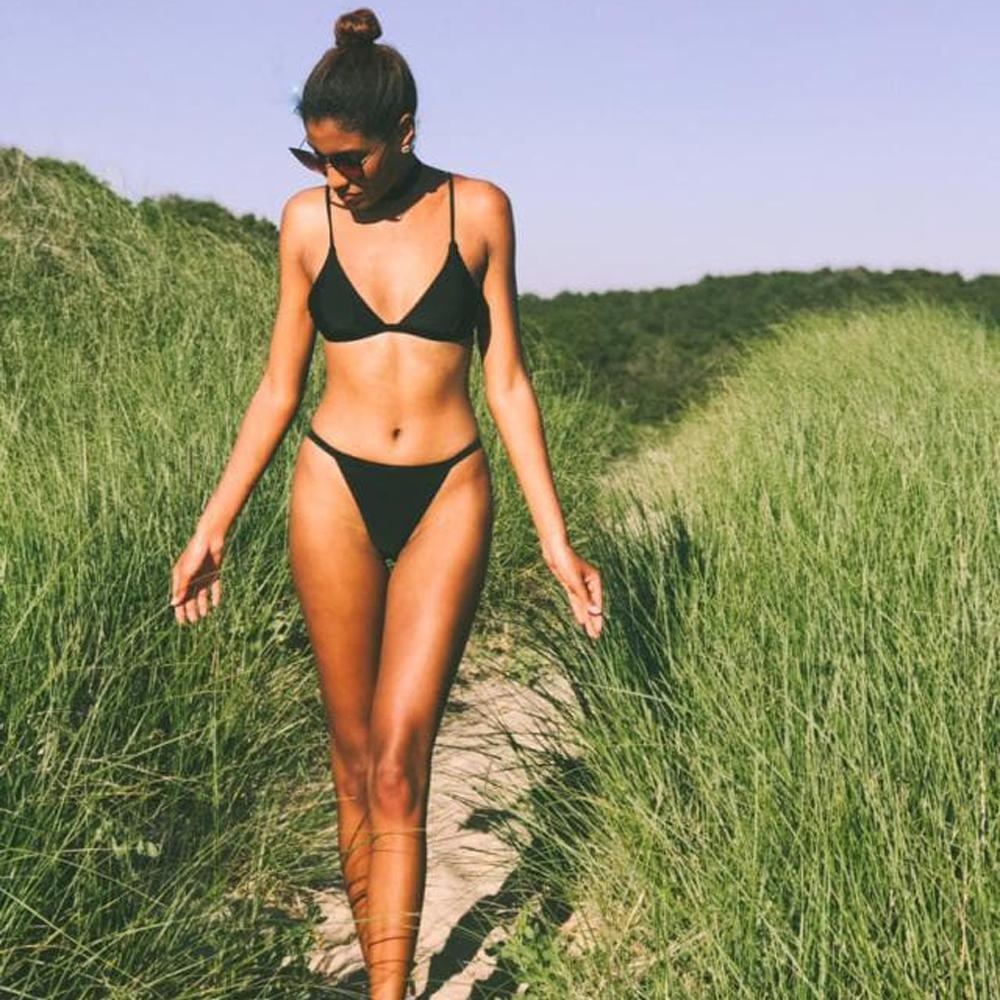 ec8d7ecfd1 2019 2019 Belleziva Bikini Set Summer Low Waist Swimwear Women Sexy Beach  Swimsuit Bathing Suit Push Up Spaghetti Strap Maillot De Xl From Panthers