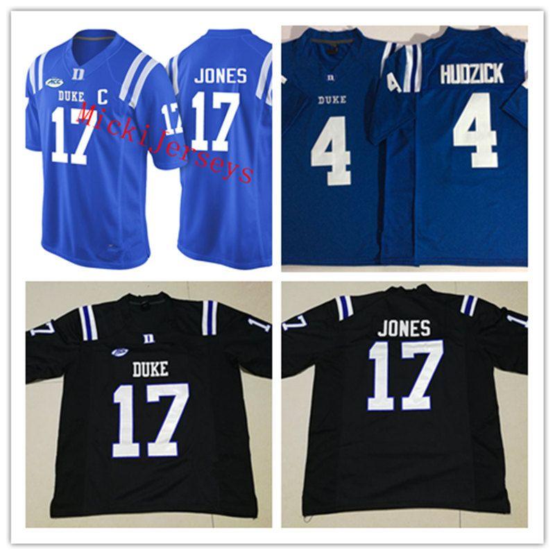 sports shoes 5642f ac628 Mens NCAA Duke Blue Devils DANIEL JONES College Football Jerseys Stitched  Royal #4 Myles Hudzick Duke Blue Devils Jersey