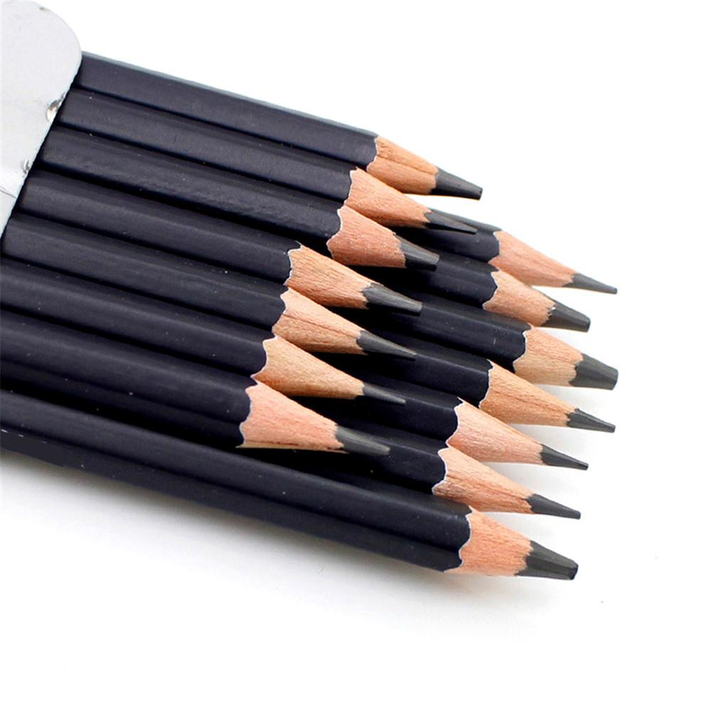 14pcs set professional sketch drawing pencil hb 2h 1b 2b 3b 4b 5b 6b 7b 8b 12b 14b painting pencils sketch charcoal pen b022