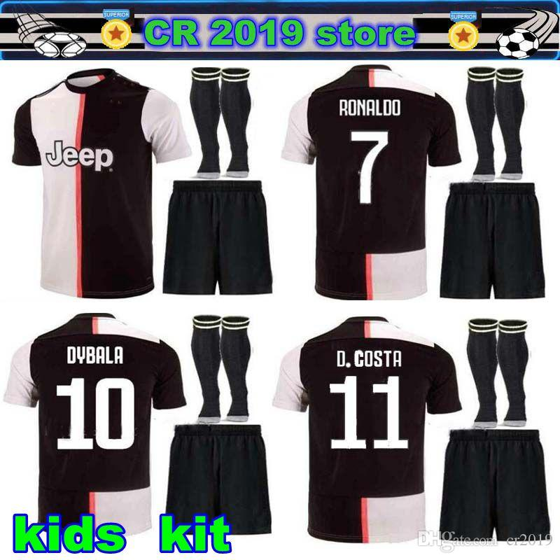 separation shoes e7fac 35519 19 20 Juventus kids kit 2019 Juventus RONALDO soccer jerseyMANDZUKIC  football shirt men youth set DYBALA JUVE Camiseta de futbol
