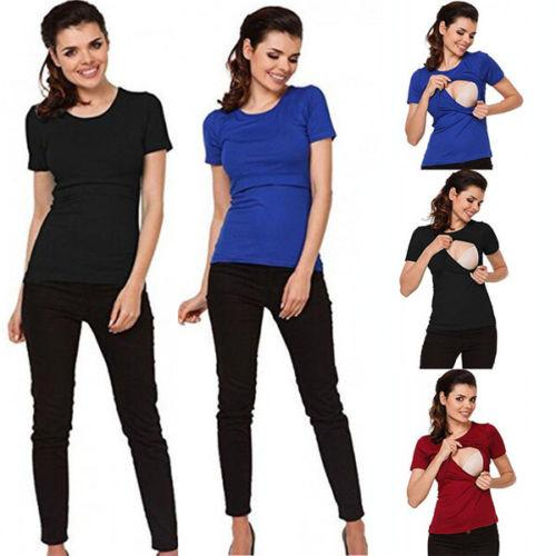 91f97e039a5e3 2019 Casual Maternity Clothes Breastfeeding Tops Nursing T-shirt For  Pregnant Women Tees Cheap Tees 2019 Casual Maternity Clothes Online with  $49.76/Piece ...