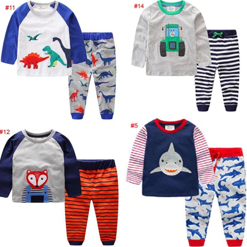 d1dd949bf 14 Style Baby Kids Clothing Sets 100%Cotton Long Sleeve Round Collar ...