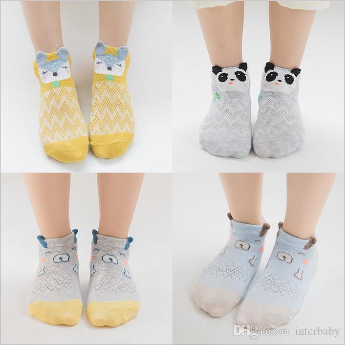 aa7566413f412c Baby Socken Neugeborenen Sommer Cartoon Boot Socke Kleinkind Baumwolle Mesh  Atmungsaktiv Schiff Socken Kind Mode Slipper Socken Gestreiften Tier ...