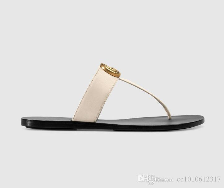 a6346ef186e8 2019 Europe High Quality Luxury Brand Designer Flip Flop Ladies Summer  Rubber Sandals Beach Slip Fashion Wear Slippers Indoor Shoes 35 45 Prom  Shoes Silver ...