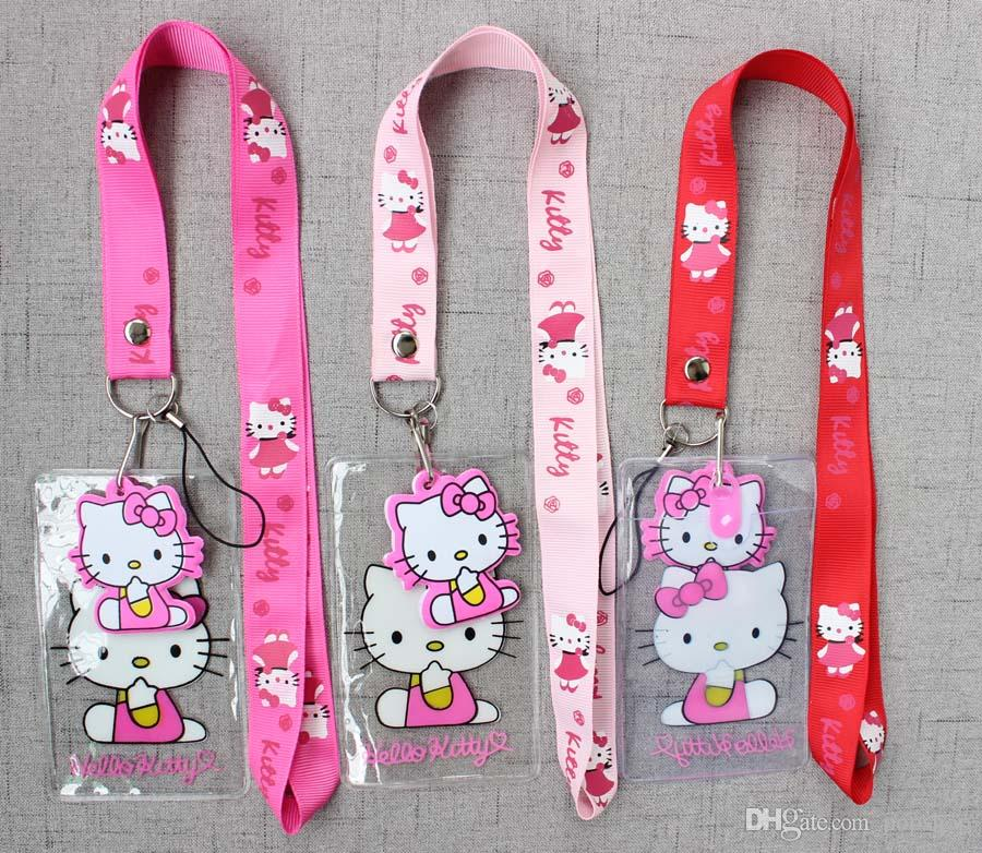 114bc9a1a 2019 Popular Hello Kitty Anime Cartoons Neck Straps Lanyards Key ID Card  From Popshop, $5.73 | DHgate.Com