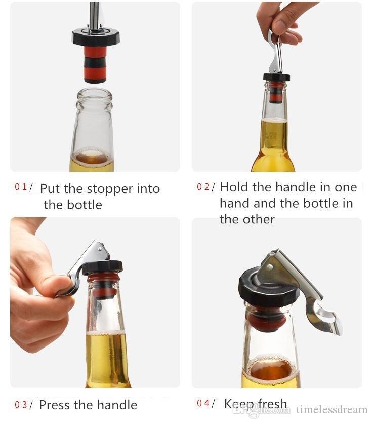 Tappo di chiusura in silicone riutilizzabile tappo bottiglia Tappo bottiglia di sapore di champagne, tappo sottovuoto, mantenere gli strumenti della barra fresca