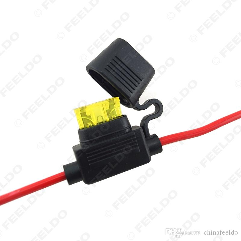 wholesale Waterproof Car Auto 10/15/20/30A Amp In Line Blade Fuse Holder Fuses #5458