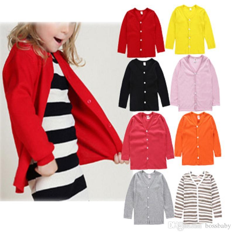 ff23facfdc73 Girls Jacket Kids Designer Brand Cardigan Long Sleeve Cardigan Solid ...