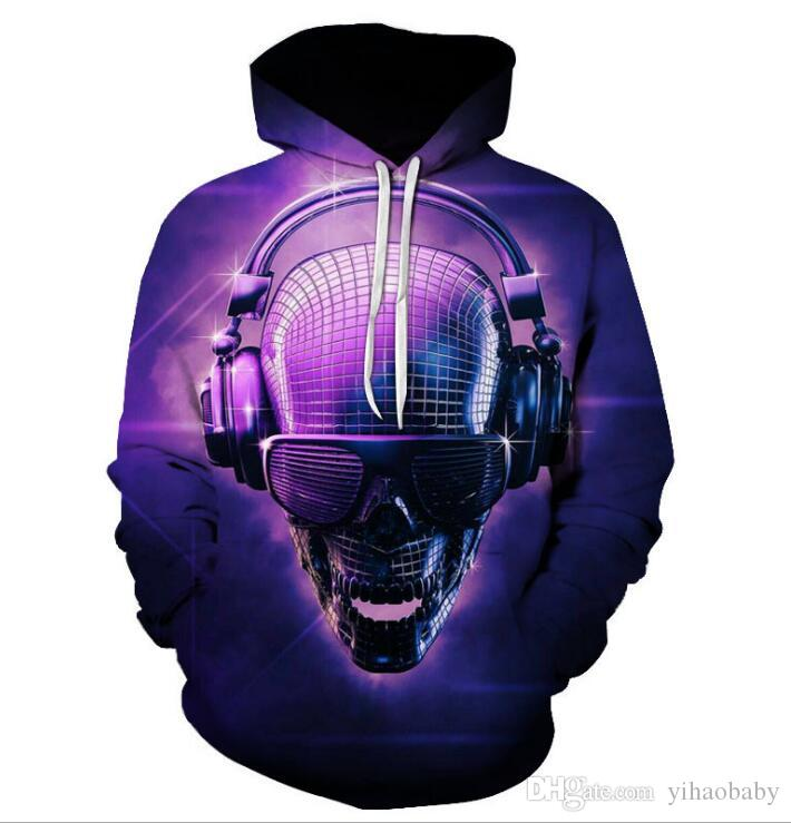 Men's and women's fashionable hoodies and guards 3-D animated Kungfu digital print Pullover 01
