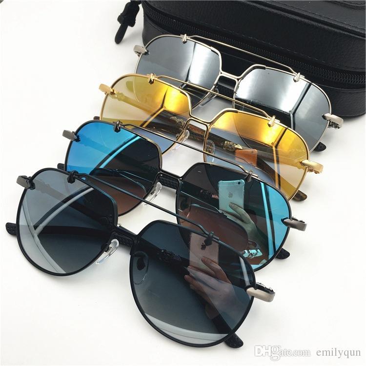 82c8ae07c0 Compre Gafas De Sol Extragrandes De Cromo Hombres Retro Gafas De Sol Grandes  Con Montura Cuadrada Para Hombres Gafas De Sol De Conductor Marca Gafas De  Sol ...
