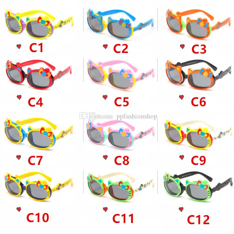 f5095376ea75 New Children'S Fashion Polarized Sunglasses Boys Girls Kids Sunglasses  Hellokitty Cute Flip Sunglasses 13 Color Wholesale