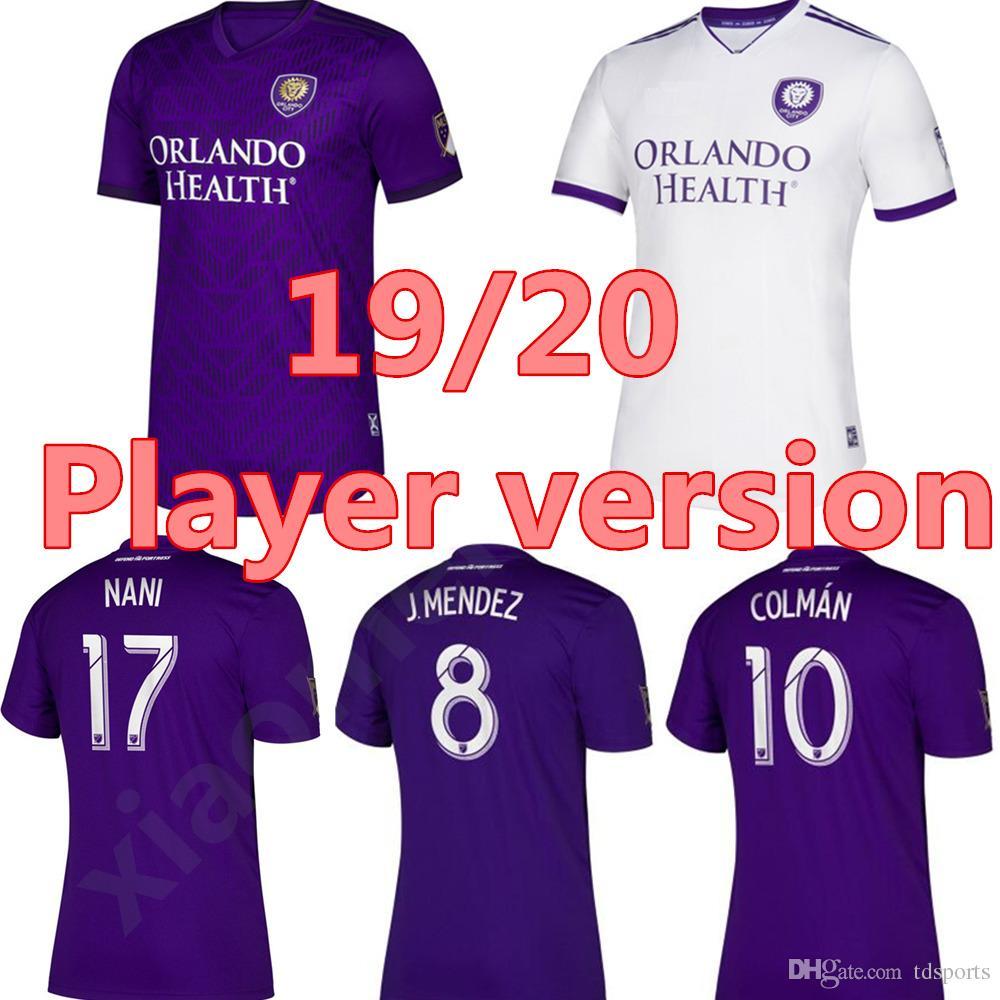 online store 06107 aa56d Player Version 19 20 Orlando City Soccer Jersey 2020 #10 KAKA #17 NANI  Uniform MLS #8 J.MENDEZ #10 COLMAN PATINO Football Shirt