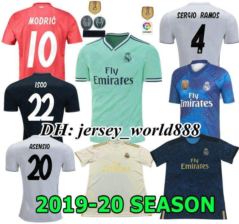 73c8c3e4a7f 2019 Top Quality 19 20 Real Madrid Home Soccer Jersey ASCENSIO 2019 RONALDO  BENZEMA BALE KROOS RAMOS MODRIC ISCO NAVAS MARCELO Football Shirt From ...