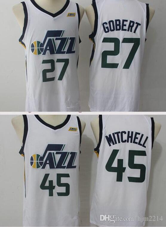 2019 2018 Utah Mens Youth 45 Donovan Mitchell 3 Ricky Rubio Jersey 27 Rudy  Gobert 2 Joe Ingles Jerseys The City Adult Jerseys And Shorts From Hjm2214 b0fa11b37