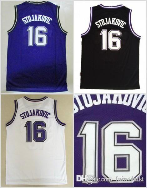 c1fb38434 NCAA Sacramento 16 Peja Stojakovic Jerseys Uniforms For Sport Fans ...