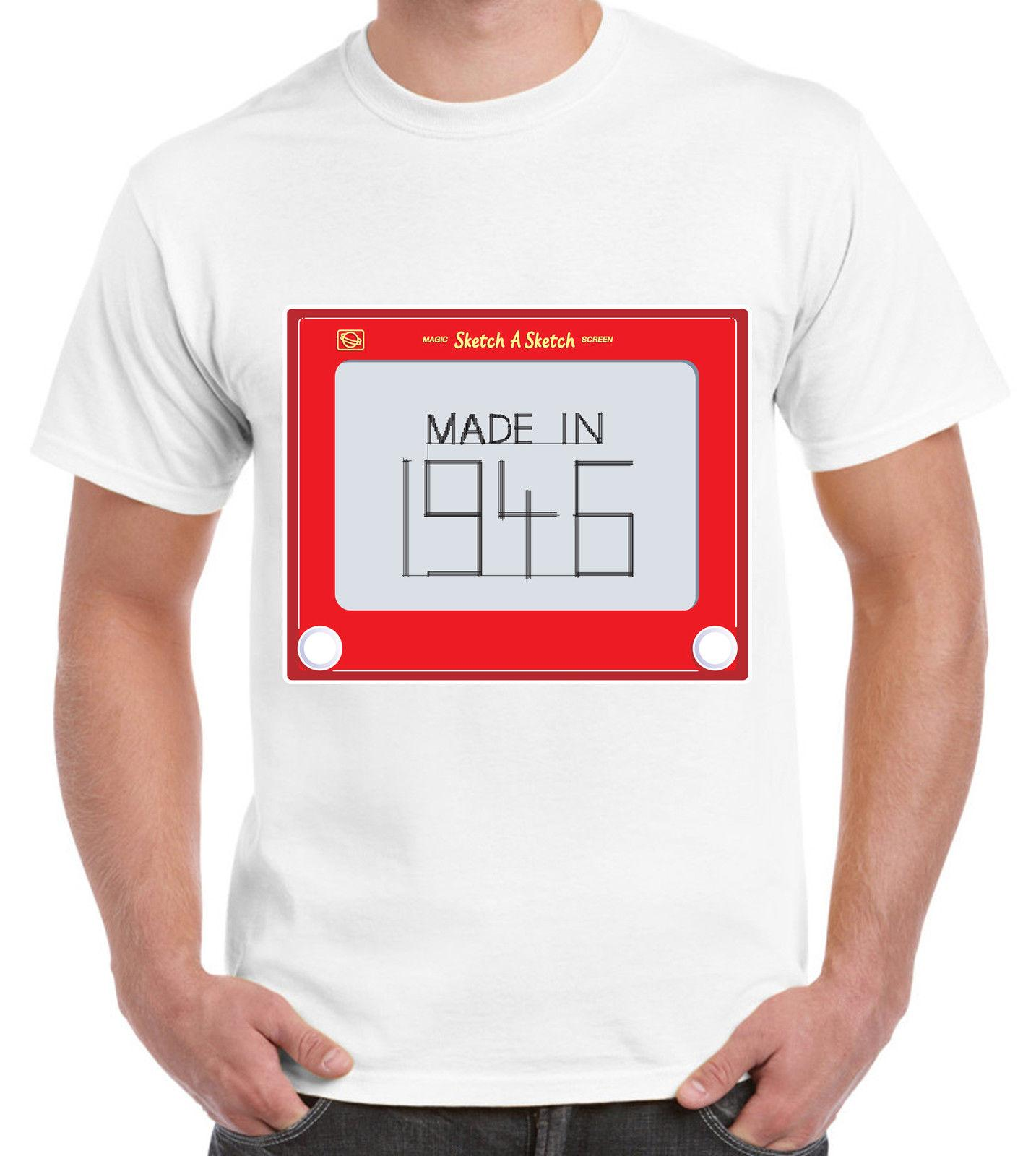 MADE IN 1947 70TH BIRTHDAY T SHIRT Gift Present Sizes S To 3XL Cotton Shirts Fitted From Mentality80 1148