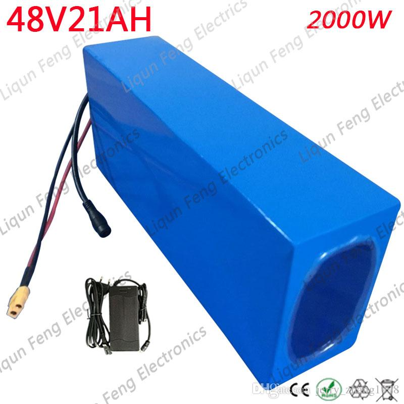 High Power 2000W 48V 20AH Electric Bike Battery 48V 20AH E-bike Battery 48 Volt Lithium Battery with 50A BMS 2A Charger Free Tax