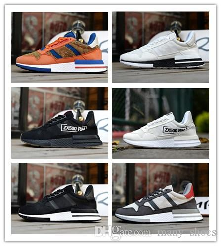 c1c4ee5d8f5ba 2018 New ZX 500 RM Goku Men Sneakers D97046 ZX500 OG The Dragon Ball Z Grey  Jogging Shoes Size 36 45 Canada 2019 From Many shoes