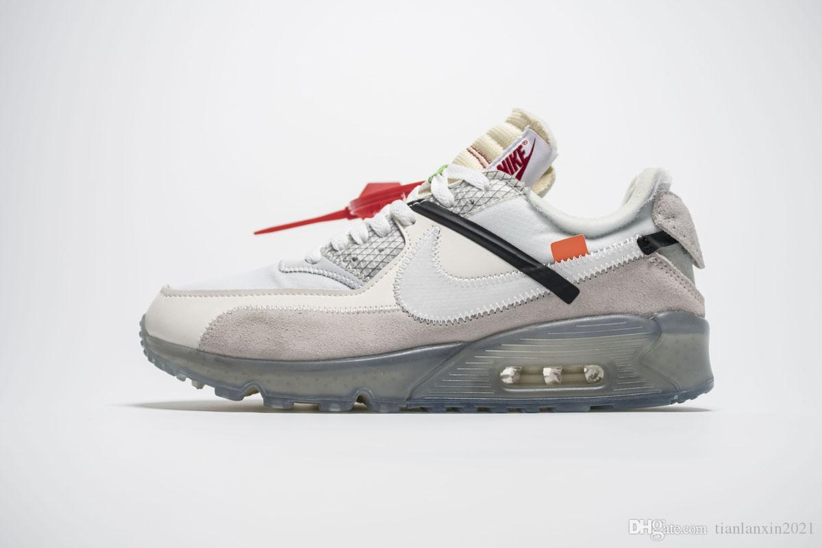 san francisco 18839 0b0c8 Nike air max 90 vapormax Off white Flyknit Utility sneaker Off White do  norte luzes PRETO Metálico Platinum tênis para mulheres dos homens  formadores ...