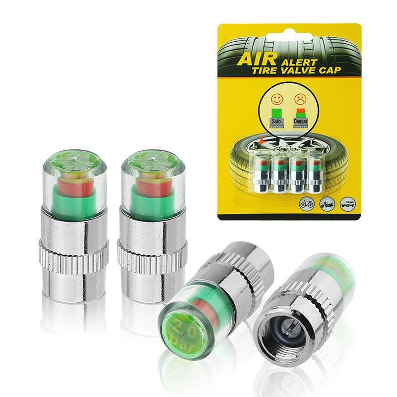 Accurate di visualizzazione Car Tyre Pressure Monitor Tools gomma auto di protezioni della valvola del sensore Kit 2.2 / 2.4 / 2.6 bar Indicatore Rilevamento