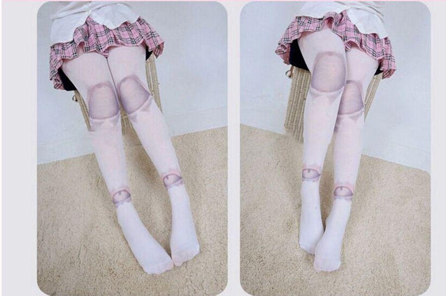 Acheter Chaussettes Pour Femmes Collants Collants Gothiques Lolita Collants  Harajuku SD Ball Joint Tattoo Print Pantyhose Bas Collants Bas De  15.56 Du  ... 432074b323a