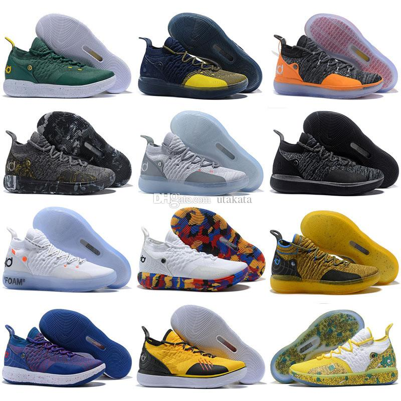 431afdf16f15 Großhandel KD 11 Weihnachten Basketball Schuhe Herren Basketball Schuhe KD  XI 11 Durant EP Oreo Cool Grey Gold Meisterschaft MVP Trainer Sneakers  Größe 40 ...