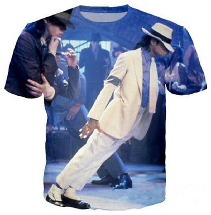 33510b535a5 Fashion Men/Women Singer Michael Jackson 3D Print Casual T-Shirt Short  Sleeve YS13