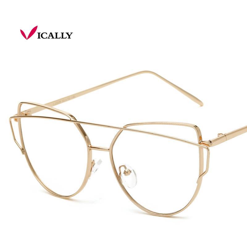 0366670f9 Compre Moda Olho De Gato Armações De Óculos Mulheres Tendências Estilos De  Marca Computador Óptico Óculos De Metal Oculos De Grau Feminino Armacao De  ...