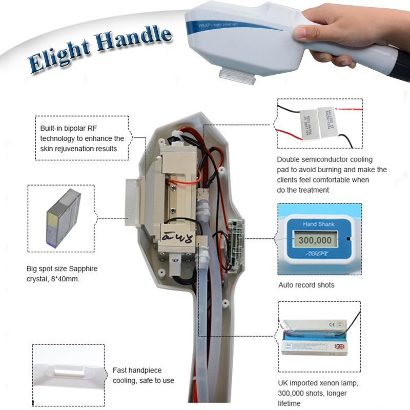 E-light opt shr ipl machine laser hair removal skin rejuvenation intense pulse light beauty instrument multiple functions