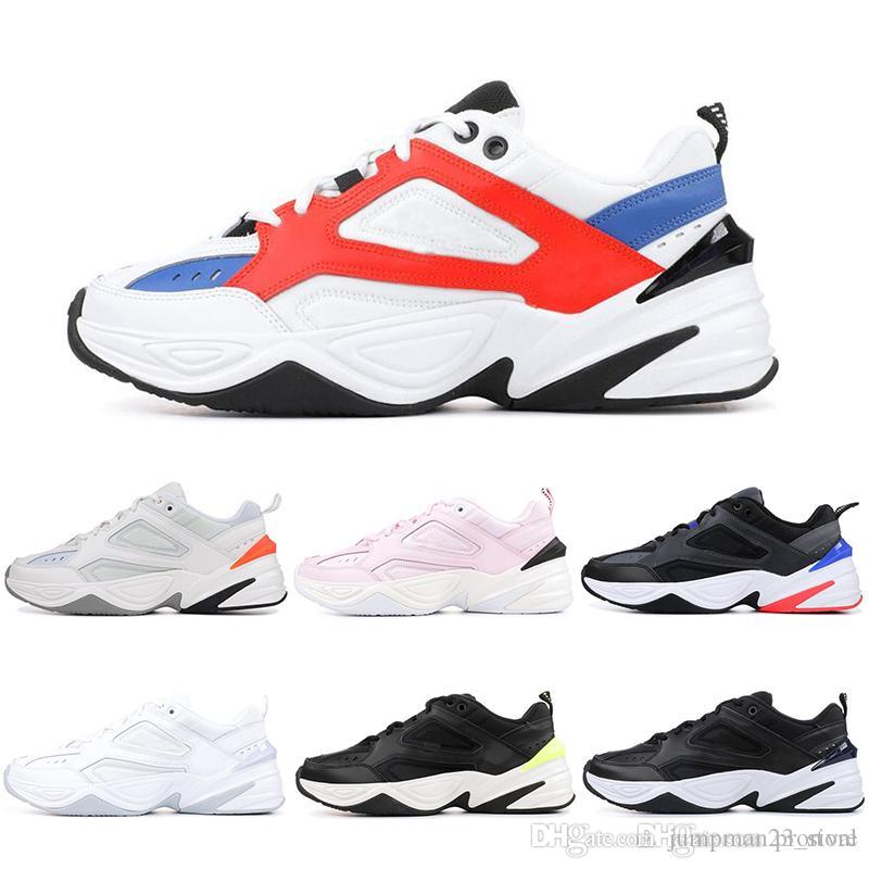 43f619f2d34b 2019 Monarch M2K Tekno Dad Running Shoes Black Volt John Elliott Paris Phantom  Pink Foam Pure Platinum White Mens Women Sports Sneakers 36 45 From ...