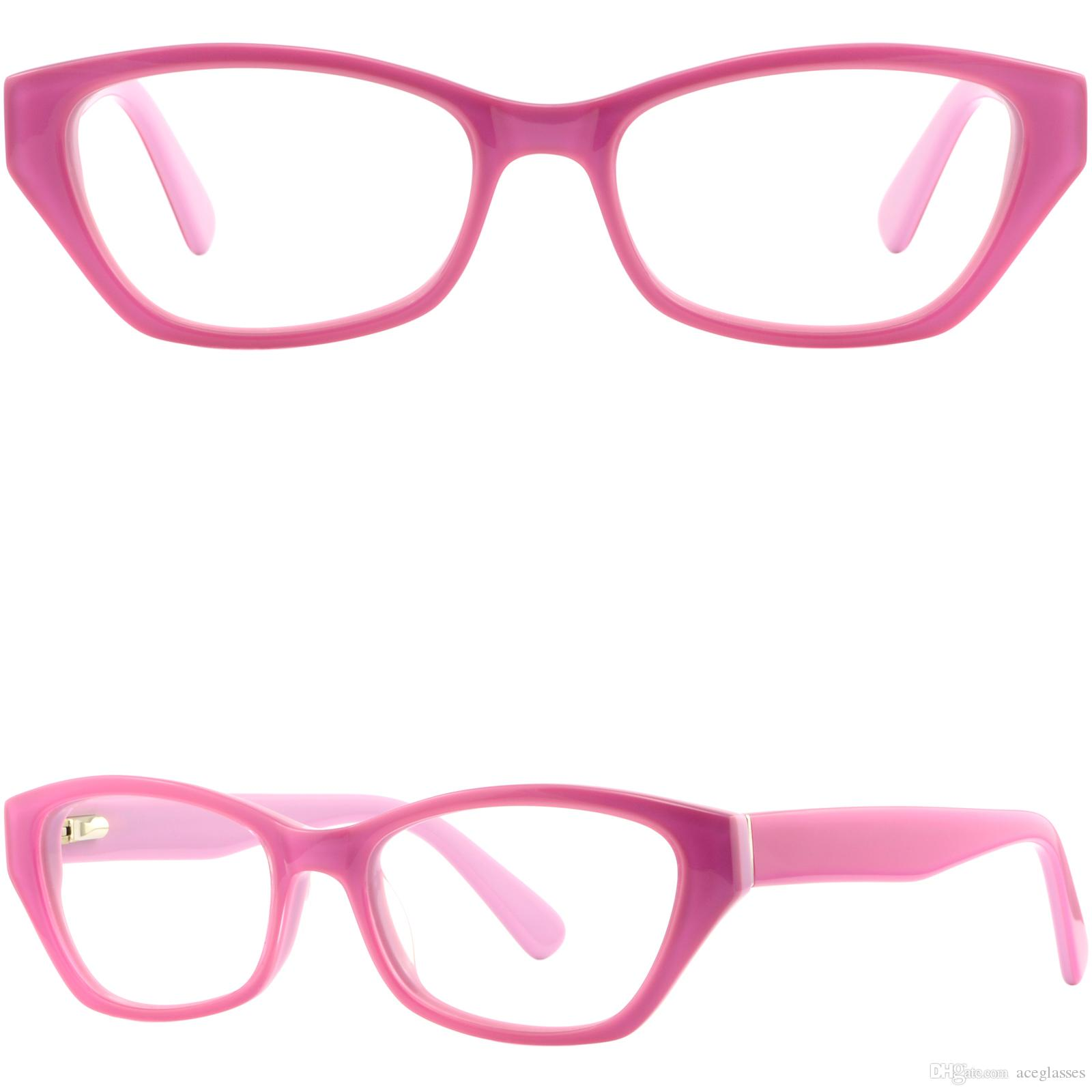 8940c98c9d Cateye Women s Acetate Plastic Frames Prescription Eyeglasses Pink ...