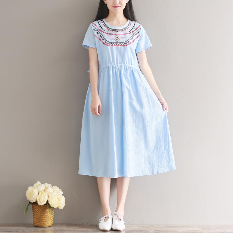 d49e039ece5 2019 Hot Sale Cotton Linen Maternity Dresses Embroidery Clothes Pregnant  Dress Top Clothes For Pregnant Women Summer Fashion2017 New From Namenew