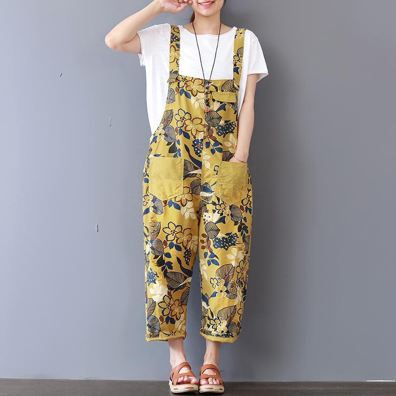 4fbf5bcca68 2019 2019 Summer Autumn Floral Wide Leg Pants Rompers Womens ...