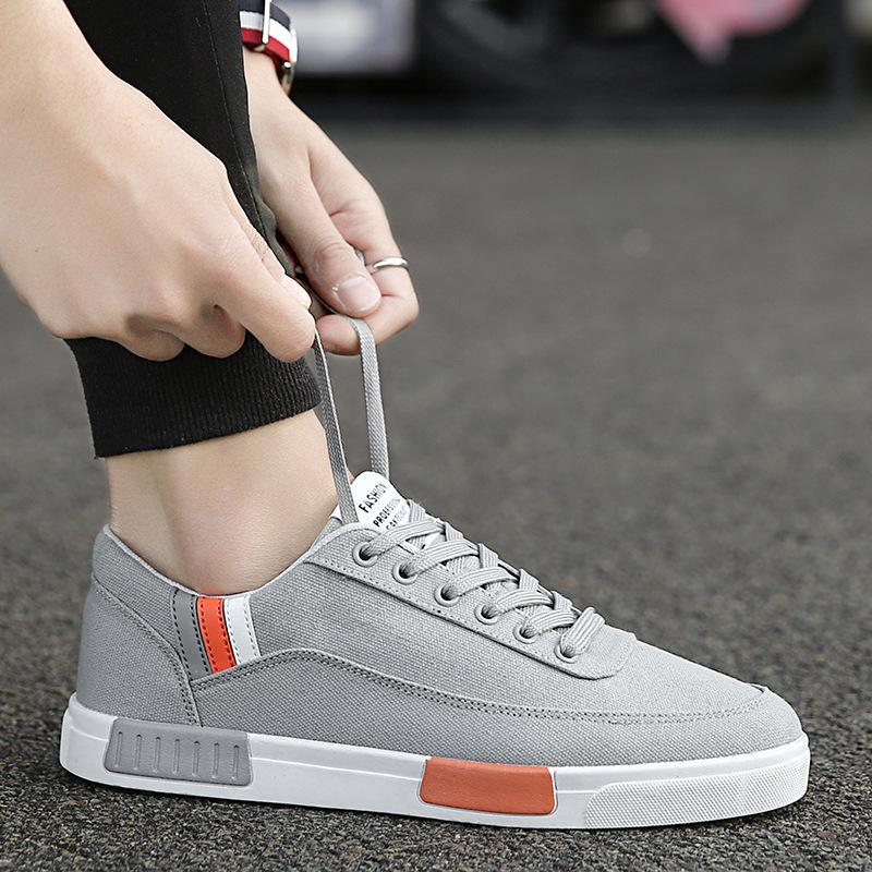 1533990ecfb5 Fashion Leisure Men Casual Shoes Canvas Mixed Colors Lace Up Sneakers Sewing  Summer Breathable Non-leather Casual Shoes Online with  92.54 Piece on ...