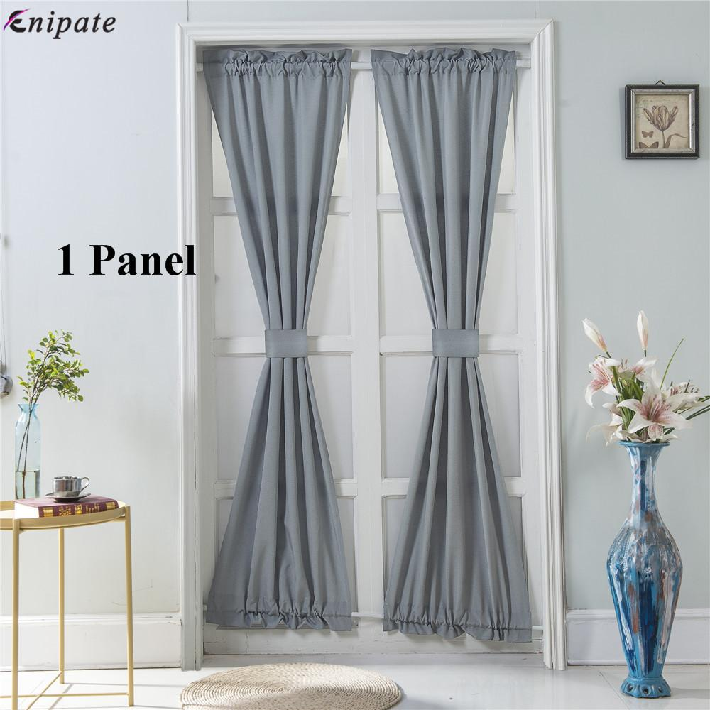 2019 Enipate 1 Panel French Door Curtain Panel Solid Rod Pocket