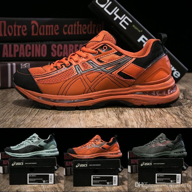 Compre Novo Asics X Kiko Kostadinov Gel Burz 2 Das Mulheres Dos Homens Tênis  De Corrida De Alta Qualidade Designer De Tênis Esporte Sapatos Formadores  40 45 ... bee40d16901f7