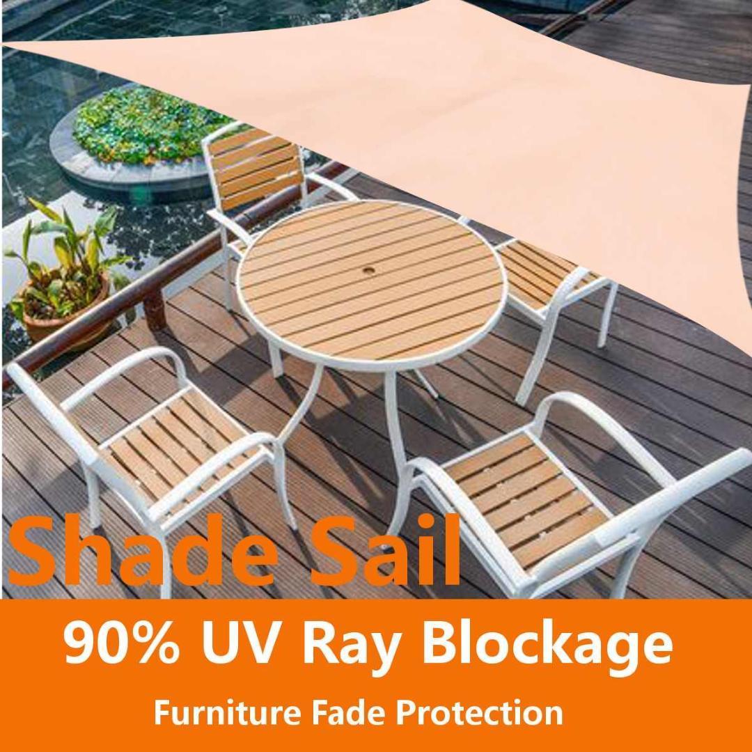2 Size Sun Shelter Sun Shade Sail Garden Patio Sunscreen Awning