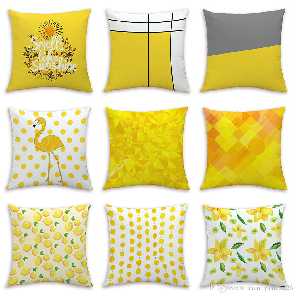 Smells like sunshine velvet cushion cover home office sofa square pillow case decorative pillow covers without insert 4545cm outdoor patio cushion covers