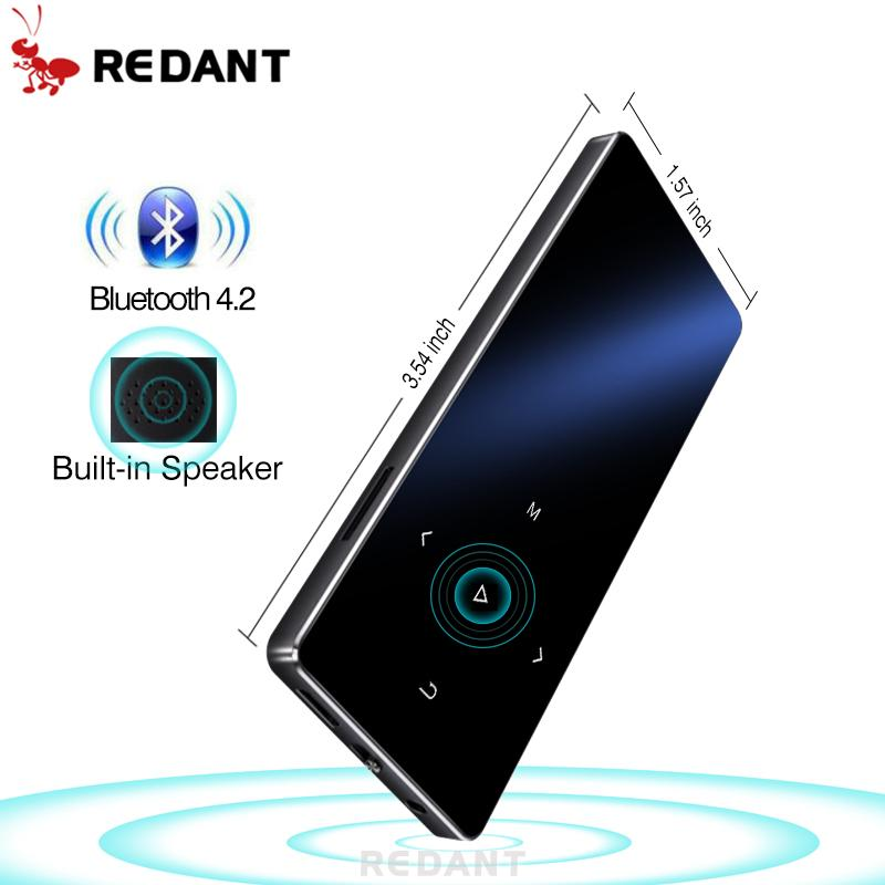 REDANT MP3 Player with bluetooth and Speaker 1 8 Screen touch keys hi fi fm  radio mini sport MP 3 music player portable walkman