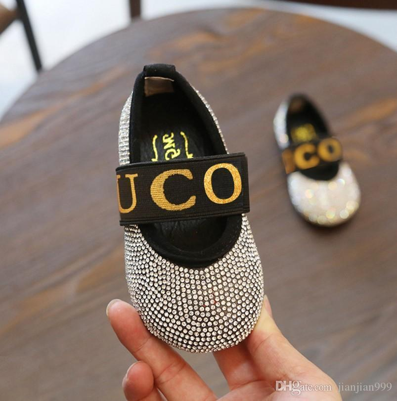 Children S Crystal Baby Princess Shoes Girls Fashion Rhinestone Show Small  Leather Shoes 2018 Autumn Children S Shoes Boot Slippers For Kids Kids Shoe  On ... 77ce03eb5e26